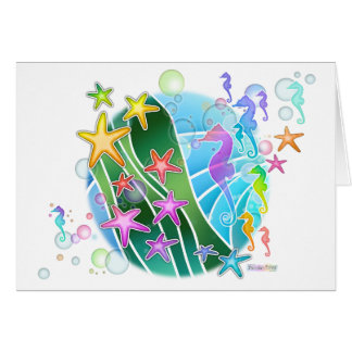 Greeting, Note Card - Under The Sea Pop Art