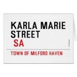 Karla marie STREET   Greeting/note cards
