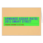 armando aguiar (Rato)  2013 smart street  Greeting/note cards