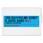 3rd Davyhulme Scout & Guide Band  Greeting/note cards