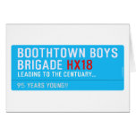 boothtown boys  brigade  Greeting/note cards