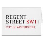 REGENT STREET  Greeting/note cards
