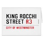 king Rocchi Street  Greeting/note cards