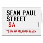 Sean paul STREET   Greeting/note cards