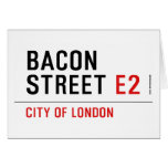Bacon Street  Greeting/note cards