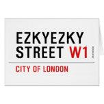 ezkyezky Street  Greeting/note cards