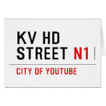 KV HD Street  Greeting/note cards