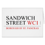 SANDWICH STREET  Greeting/note cards
