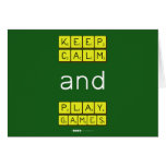 KEEP CALM and PLAY GAMES  Greeting/note cards