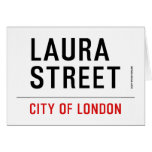 Laura Street  Greeting/note cards