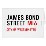 JAMES BOND STREET  Greeting/note cards