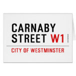 carnaby street  Greeting/note cards
