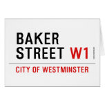 baker street  Greeting/note cards