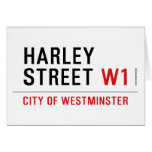 HARLEY STREET  Greeting/note cards