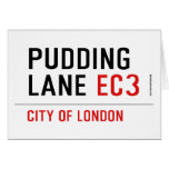 PUDDING LANE  Greeting/note cards