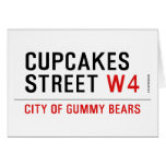 cupcakes Street  Greeting/note cards