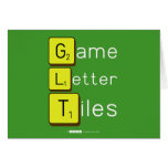 Game Letter Tiles  Greeting/note cards