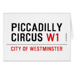 piccadilly circus  Greeting/note cards