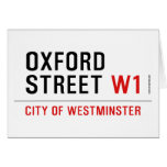 oxford street  Greeting/note cards
