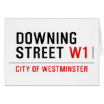 downing street  Greeting/note cards