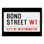 Bond Street  Greeting/note cards