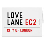 LOVE LANE  Greeting/note cards