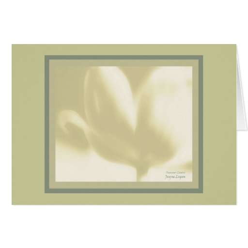Greeting or Note Card Template, Summer Linens Tuli