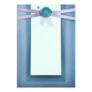 Greeting paper card with sealing wax stamp