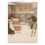 Greeting Postman by Macbeth, Vintage Victorian Art Greeting Card