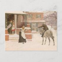 Greeting the Postman by Robert Walker Macbeth Postcard