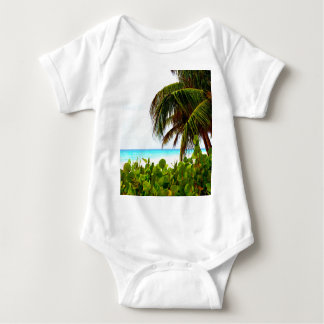 Greeting to the open world beach and ocean baby bodysuit