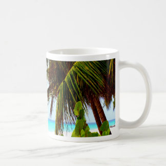 Greeting to the open world beach and ocean coffee mug