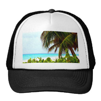 Greeting to the open world beach and ocean trucker hat