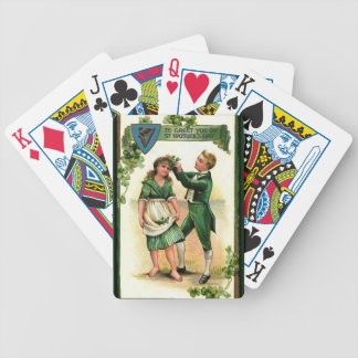 Greeting You on St Paddy's Day Bicycle Playing Cards