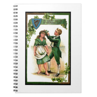 Greeting You on St Paddy's Day Spiral Notebook