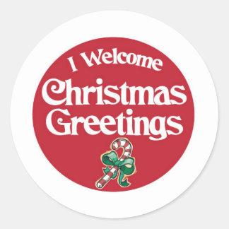 GreetingButton2 Classic Round Sticker