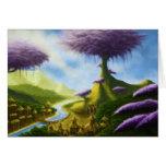greetingcard del paisaje de la fantasía del tarjeta de felicitación