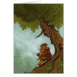 greetingcard feliz de la fantasía del árbol tarjeta