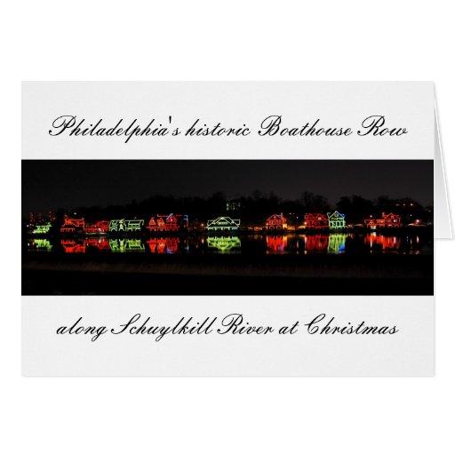 Greetingcard histórico de la fila del Boathouse de Tarjetas