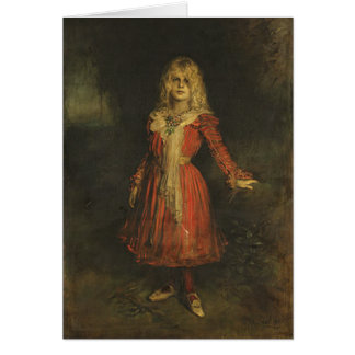 Greetingcard With Franz von Lenbach Painting Card