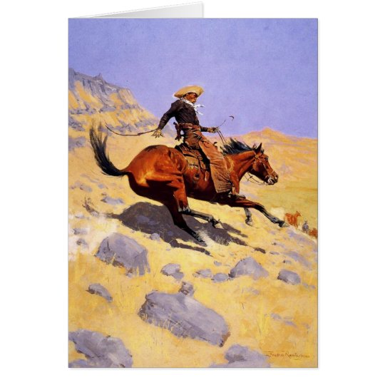 Greetingcard With Frederic Remington Painting Card