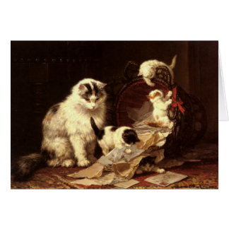 Greetingcard With Henriette Ronner-Knip Painting Card