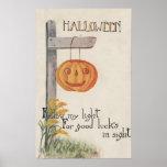 GreetingJack-O-Linterna de Halloween en el poste Posters