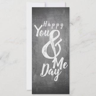 Greetings anniversary in chalkboard look