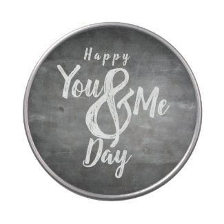 Greetings anniversary in chalkboard look candy tin