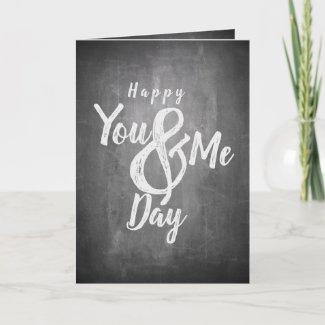 Greetings anniversary in chalkboard look card