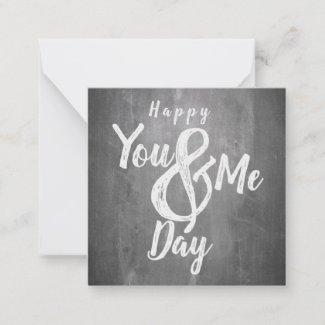 Greetings anniversary in chalkboard look note card