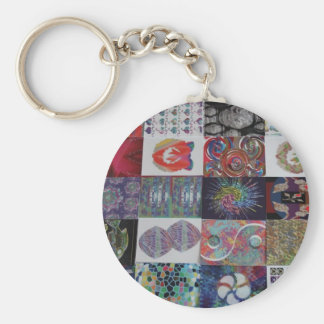 GREETINGS Art Collage Keychain