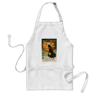 Greetings at Halloween the Time has Come Apron