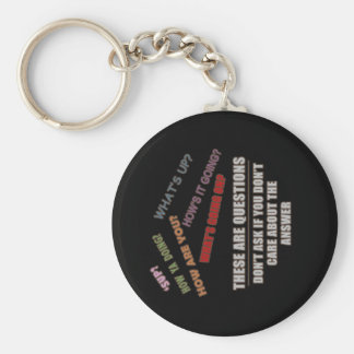 Greetings Basic Round Button Keychain